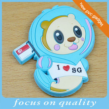 make customized convex tourist 3d souvenir fridge magnet