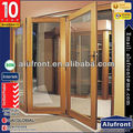 Competitive Price Aluminum And Wood Composite Folding Door With German Hardware