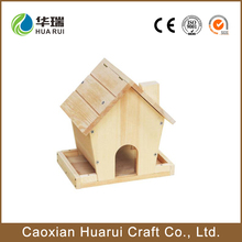 Customized small wood crafts bird house with low price wooden bird aviary
