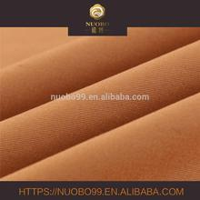 100% cotton single yarn drill twill fabric with brushed for suiting and trousers
