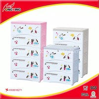 Dog design printing large outdoor plastic storage drawers