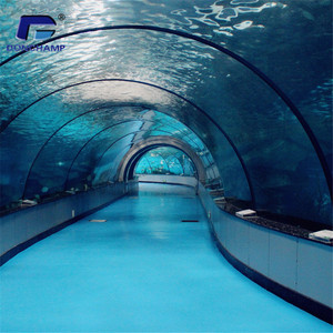 Customized acrylic sheet for acrylic fish tank aquarium tunnel projects