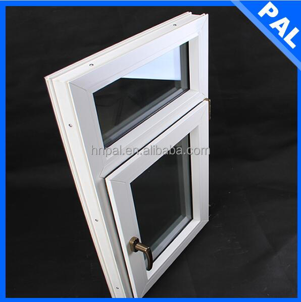60mm series Home used pvc round window / round opening window With double gazed window