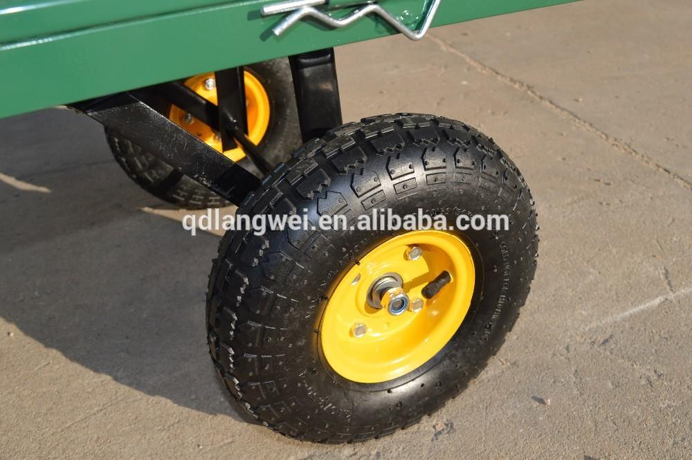 Hot vente 2015 4 roue chariot de jardin panier en maille for Chariot de jardin 4 roues