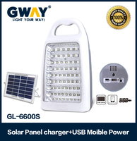 Rechargeable solar power 60 led emergency lantern with USB mobile charger