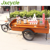 electric motor coffee cargo bike selling food