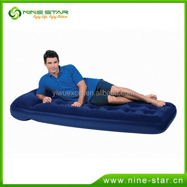 TOP SALE BEST PRICE!! Top Quality inflate flocked double air bed with competitive offer