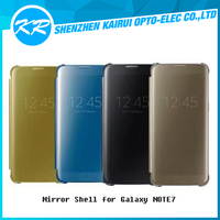 Newest Awesome Translucent View Flip Window Sleep/Awake Function Ultralight Slim Mirror Shell Case for Samsung Galaxy Note 7