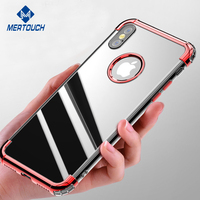 Electroplating cover case for iphone X flexible soft silicone edge bumper back cover for iphone X Amazon hot products