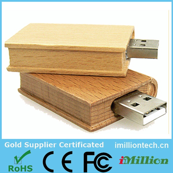 8gb 16gb bamboo book usb flash drive