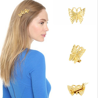 Wholesale Hair Accessories for women, Metal Hair Clips with Butterfly Design, Ladies' Fancy Hair Clips
