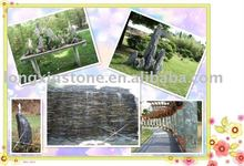 Slate stone garden furniture garden fountain