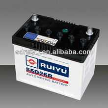 lead acid dry charged small car battery 55D26R