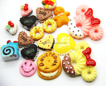Biscuit Cookies Cakes Resin Cabochons Scrapbooking Fit Phone Decoration Embellishments