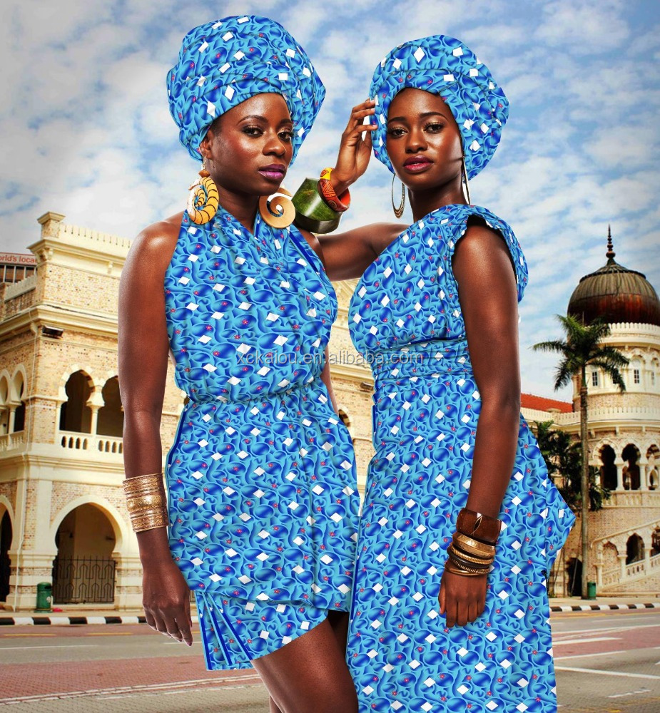 polyester African fashion wax print fabric