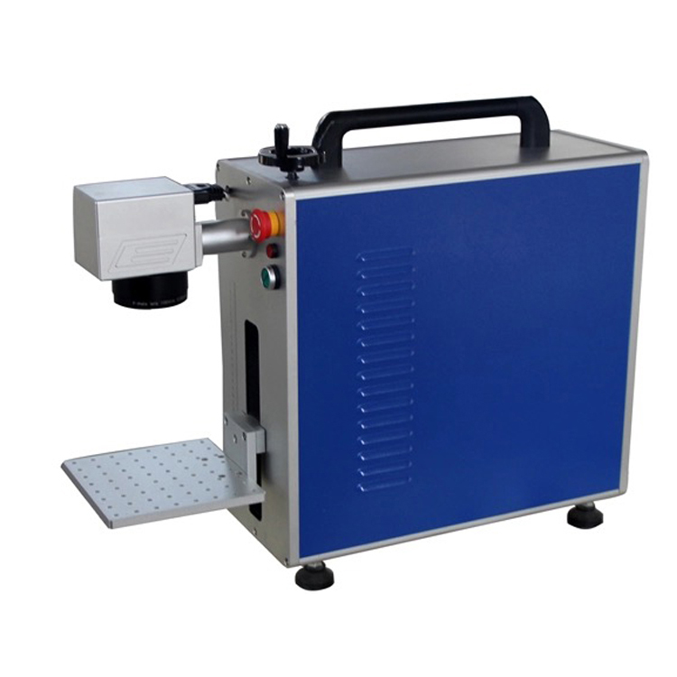 <strong>110</strong> x <strong>110</strong> mm 20 w portable fiber laser marking machine with production line
