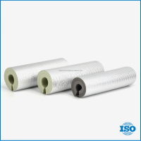 Material flexible easily install fireproof EPDM foam pipe insulation