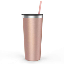 Personalized 22 Oz Stainless Steel Insulated Skinny Tumbler <strong>Cup</strong> With Lid And Straw