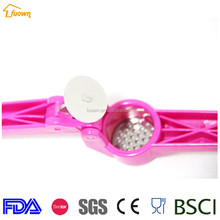 Girl's pink cute silicone antiskid handle garlic press