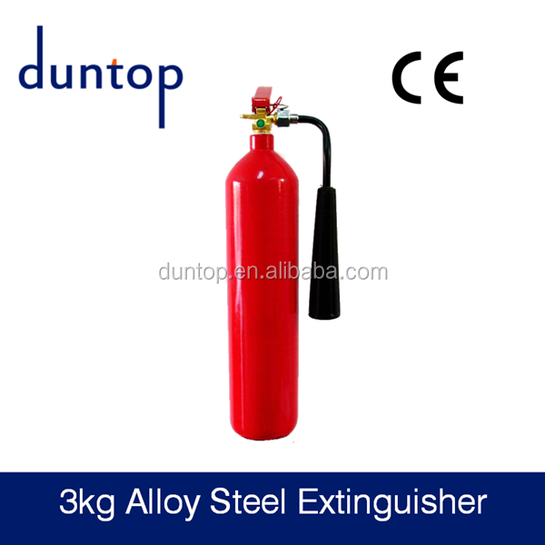 3kg Co2 alloy steel fire extinguisher use in factory dormitory use with CE