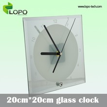 Customer-build 20*20cm glass clock for sublimation