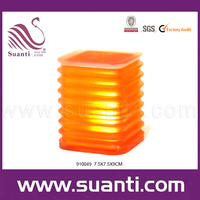 Custom Wholesale Cheap Resin Finish Battery Powered Portable Led Decorative Orange Serial Lighting for Home Decor