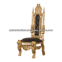 Lion King Dining Chair Gold Painted