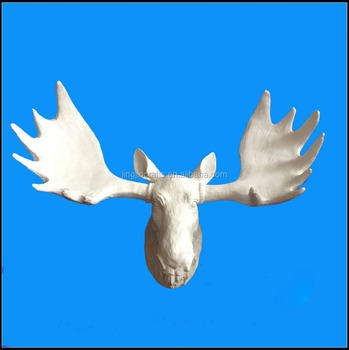 American style wall mounted white animal deer head