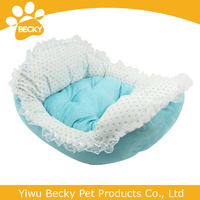 Hot Sale High Quality Dog Bed Comfortable Elegant Pet Dog Bed Luxury Lace Pet Bed in Pink