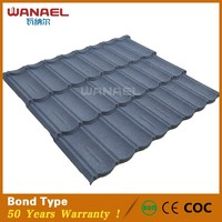 beautiful and fashion stone coated metal plain roof tile/Decorative mix color stone coated plain roof tiles/spanish roof tile