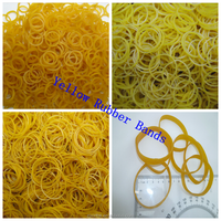 Strong Yellow Color Elastic Rubber Bands Office Packing Supply