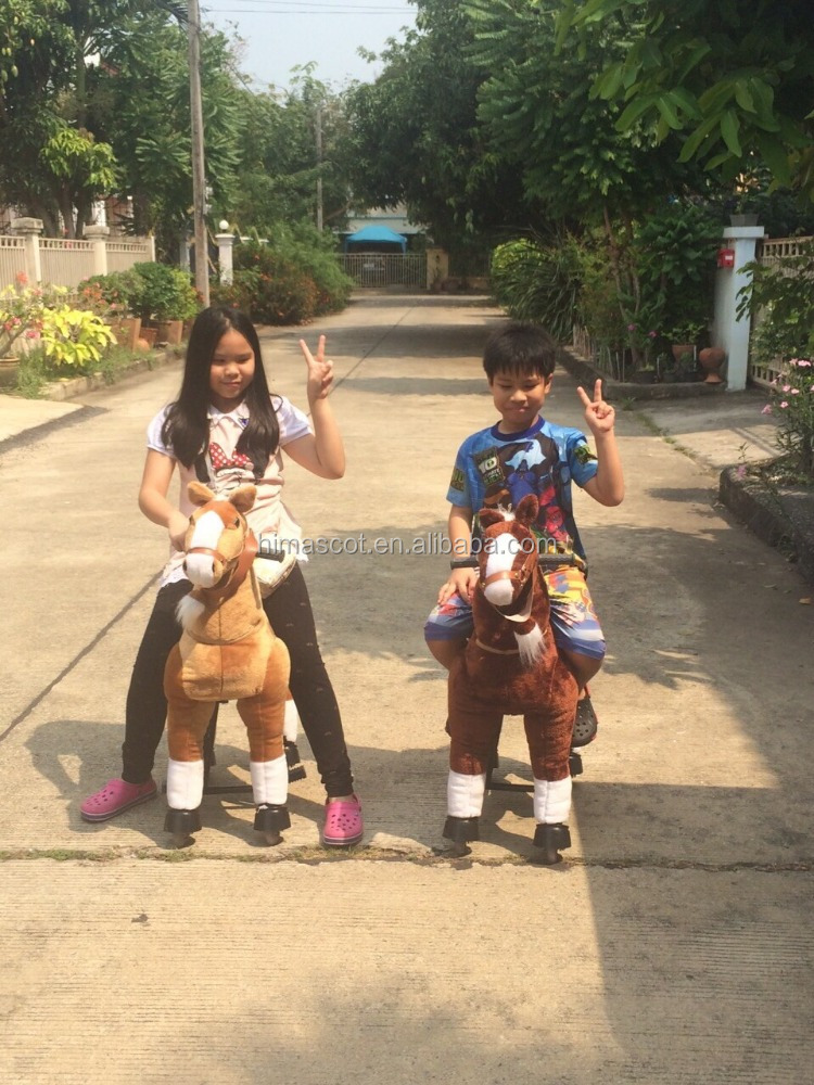 HI CE playground ride on horse toy pony walking toy horse on wheels
