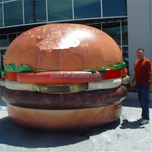 inflatable grilled hamburger/custom giant inflatable hamburger/burger model