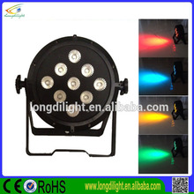 hot selling 9*10w rgbwa 5in1 dmx led flat par 64 led wireless christmas lights