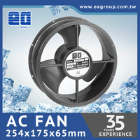 Taiwan TUV CE UL ROHS Certified OED ODM Customized AC Tube Axial Cooling Fan in 254x107mm