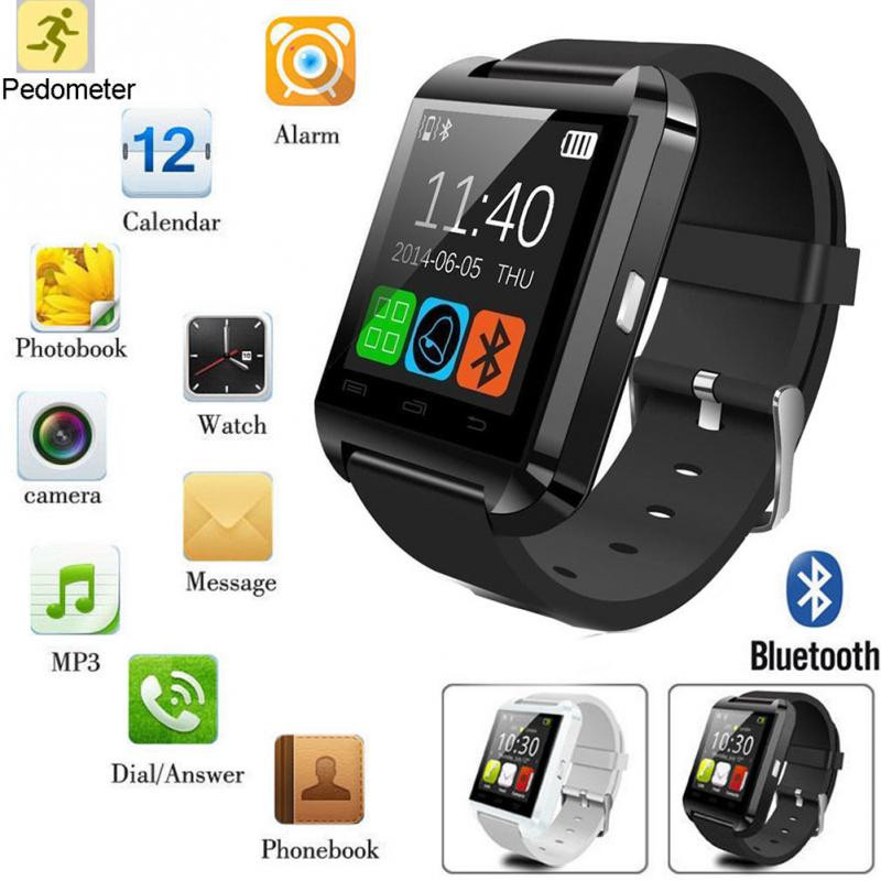 2017 hebrew language u8 dz09 gt08 smart watch 1.54inch touch screen bluetooth wrist watch mobile phone