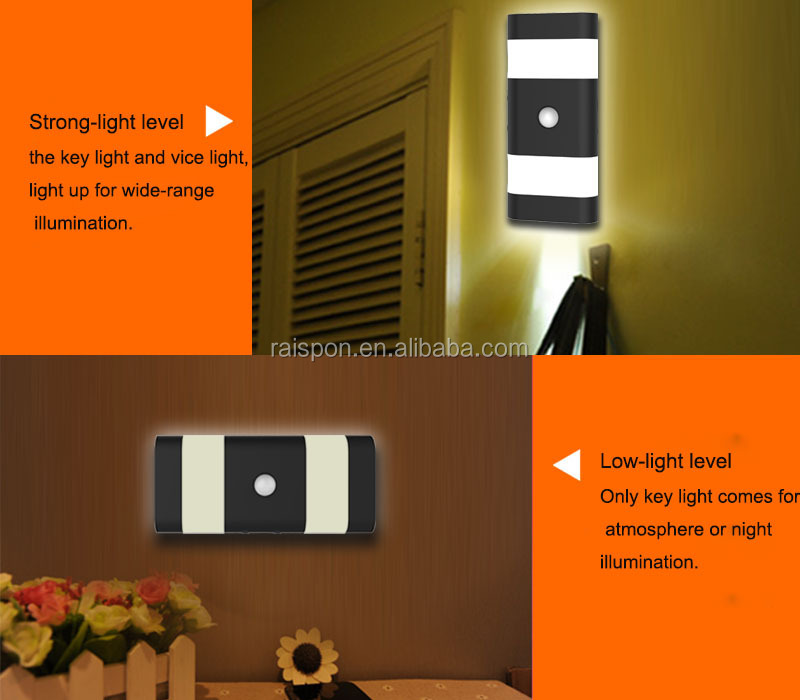 High Quality Kids LED Night Light Motion Sensor Night Lamp with OEM Custom Service