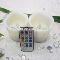 China wholesale remote control moving wick wax LED flameless candle