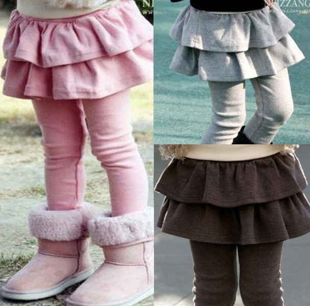 Hot Sale Fashion Winter Warm Icing Baby Skirt Leggings For Children