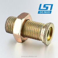 Round reducing weld threaded carbon steel flange bushings with nut