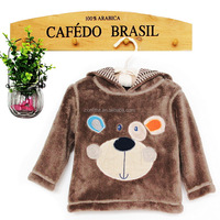 baby hootie long winter coats with embroidery for girls
