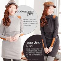 Mamalove Winter Turtleneck Thermal Maternity Clothes Breastfeeding Tops Breastfeeding dress Nursing Top Dress for Pregnant Women