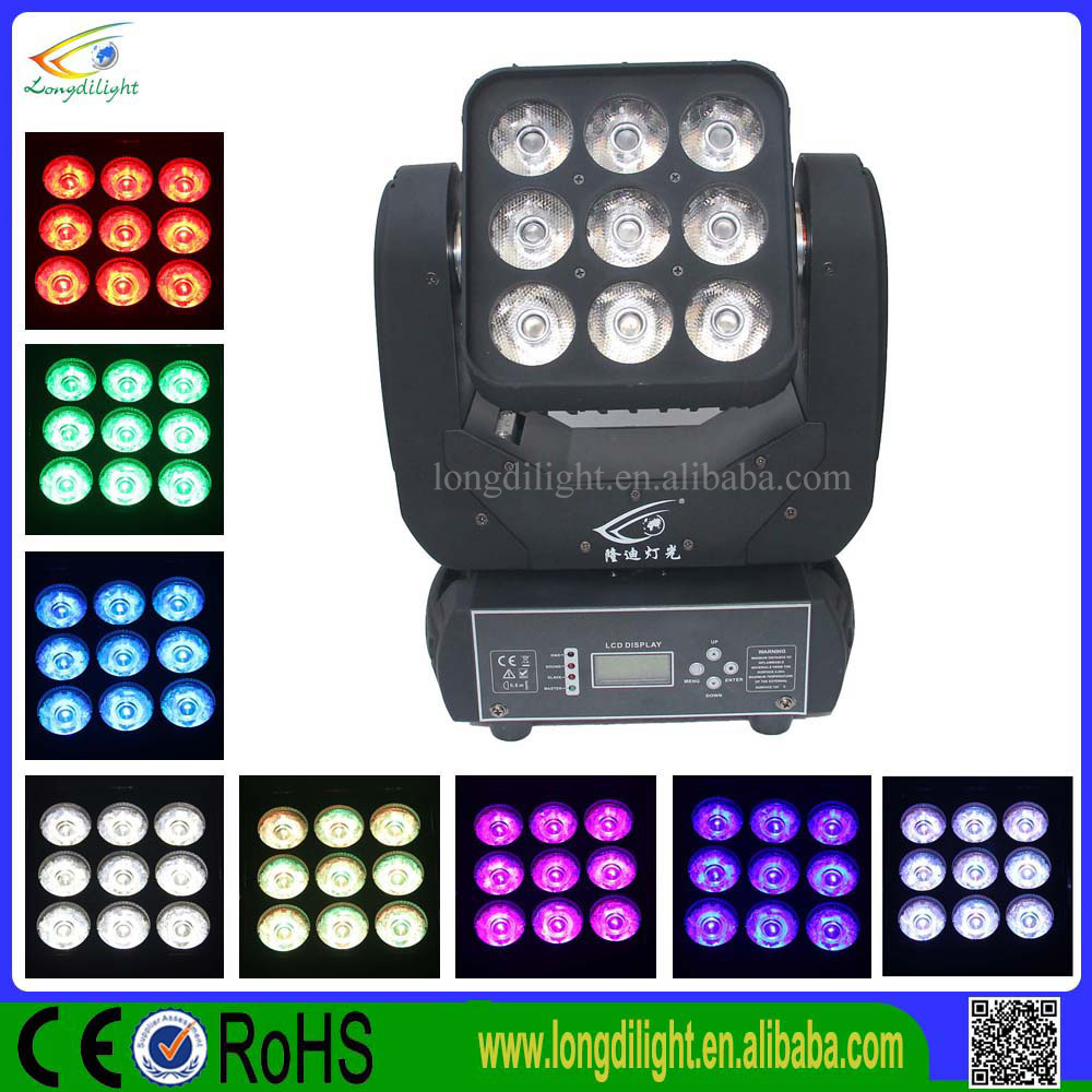 9*10W 3x3 RGBW 4IN1 Led Disco Moving Head Light Matrix LED