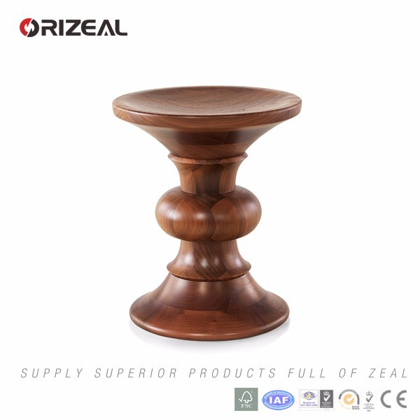 Replica Herman Miller Eamess Walnut Wood Stool (OZ-RW-1008B)