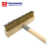Heavy Duty Pizza Oven Wire Brush and Scraper with Long Wooden Handle