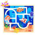 New hottest educational sea world wooden maze toy for kids W11H038