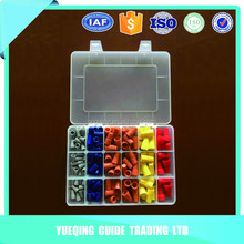 Hot selling high quality insulated wire 158 pcs plastic terminal assortment box