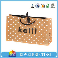 2015 New Arrived small size rope handle printed unique creative package gift craft bag