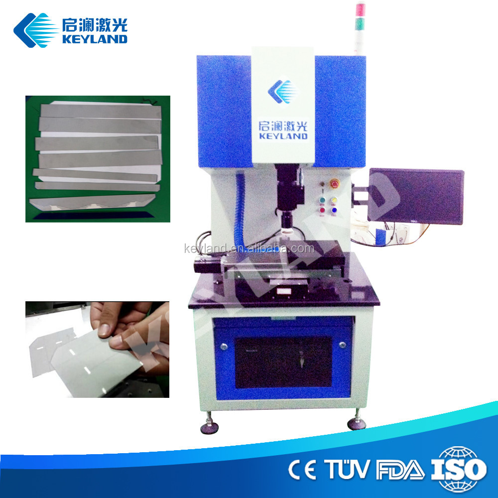 Fiber laser 20w silicon wafer cutting machine for solar cell dividing broken