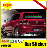 animated el car sticker,high quality el car sticker used for car window,hot selling over the world